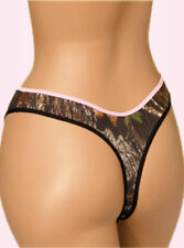 MOSSY OAK CAMOUFLAGE THONG PANTY, PANTIES LINGERIE PINK CAMO