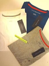 TOMMY HILFIGER Men's Crew Neck Pocket Logo T-Shirt, 100% Cotton NWT Sweater Tee