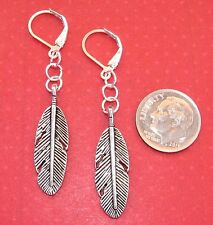 LEAF Charm LEVERBACK Drop Earrings OPTIONS: COLORS Silver, Gold, Bronze tone