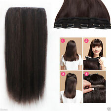 250g 20''~28'' 5Clips One Hairpiece Virgin Clip In 100%Real Human Hair Extension