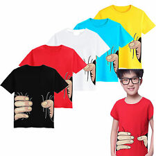 Kids Boys Summer Casual Tops Shirts Clothes Short Sleeve T-Shirts Tee 2-8 Years