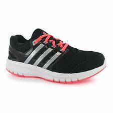 Adidas Galaxy Elite Running Trainers Junior Girls Blk/Silv/Red Sports Sneakers