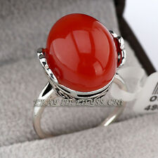 A1-R3036 Fashion Solitaire Simulated Agate Ring 18KGP Size 5.5-6.5