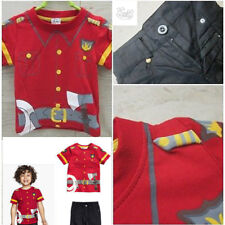 NEW Kids Fire fighter Fireman Costume Education Pretend Play Career 2 & 3 YR KG