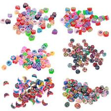50pcs Polymer Clay Spacer Beads Charms for Jewelry Making DIY Craft Findings