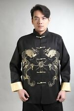 Traditional Chinese Men's silk embroidery party jacket coat Cheongsam Sz: M-3XL