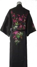 Chinese Women's silk/satin embroidery Kimono Robe Gown sleepwear Sz: M-XXL
