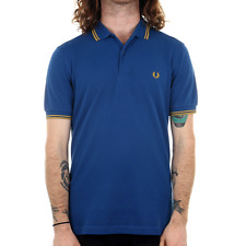 X Fred Perry Twin Tipped Polo Shirt - Royal
