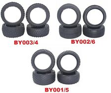 4 x 1/10 Nitro Electric Off Road RC Buggy Front & Rear Rubber Tyres Tires