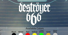 DESTROYER 666 VINYL DECAL STICKER CUSTOM SIZE/COLOR AURA NOIR DESASTER ABSU