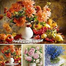 "16*20"" DIY Floral Hand Oil Painting By Numbers Paint Wall Pictures Home Decor"
