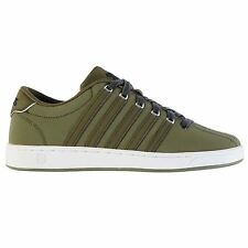 K Swiss Court Pro II Trainers Mens Military Olive Sports Shoes Sneakers Footwear