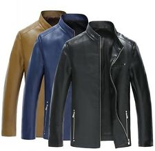 Mens Business Leather Motorcycle Hipster Jacket/Coat Blazer Leather Coat
