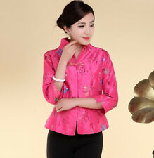 Charming Chinese Women's silk/satin embroidery jacket /coat Red Sz:M- 4XL