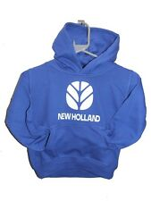 CHILDRENS NEW HOLLAND TRACTOR CUSTOM PRINTED HEAVYWEIGHT HOODIE SWEAT ALL SIZES