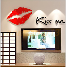 3D Crystal Stereo Wall Stickers Living Room TV Wall Wall Stickers Red Lips