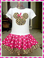 Minnie Mouse dress Pink Cheetah nwt 2T 3T 4T 4/5 6/6 7/8 10/12 14/16