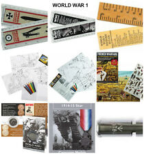 World War 1 Activity Packs replica medal coins , Artefacts stickers History WW1