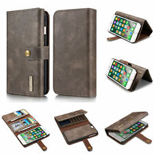 2in1 Detachable Magnetic Flip Leather Wallet Card Cover Case For iPhone 7&7 Plus