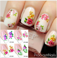 1Sheet Nail Art Water Decals Transfer Stickers Rosa Chinensis Flower Manicure