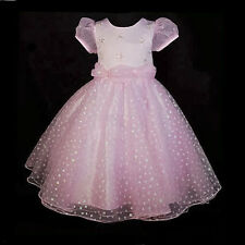 Stars Formal Occasion Dress Flower Girls Wedding Pageant Party Size 18m-8 FG041