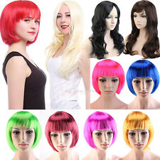 Full Wigs Long Curly Straight Cosplay Wig Costume Party Fancy Dress Black Red 55