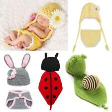 Infant Baby Girl Boy Crochet Knit Costume Photo Photography Prop Hats Outfits