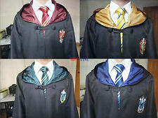 Harry Potter Cos Gryffindor/Hufflepuff/Slytherin Cape Cloak Mantle Cosplay
