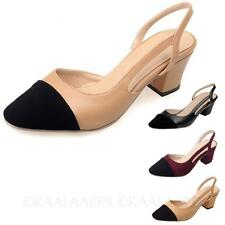 KALA Womens Ladies Party Synthetic Leather Shoes Office Cap Toe Sandals Size