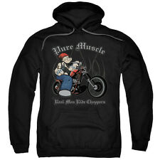 Popeye The Sailor Man Cartoon Character Pure Muscle Adult Pull Over Hoodie