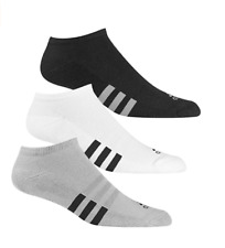 ADIDAS 3-PACK NO SHOW MENS GOLF SOCKS - NEW 2017- PICK SIZE & COLOR!