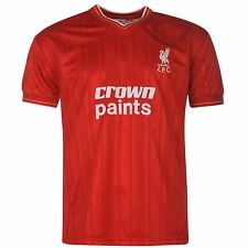 Score Draw Mens Gents Vintage Liverpool 1986 Home Shirt Football Stamp Top