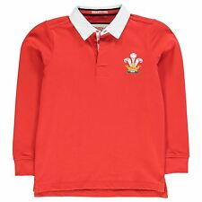 Team Childrens Rugby Jersey Boys Stretch Polo Shirt Top Long Sleeve Clothing