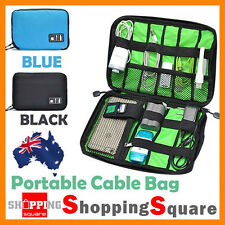 Portable Travel Electronic Accessories USB Cable Organizer Bag Case Drive Insert