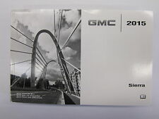 2015 GMC SIERRA ENGLISH OWNERS OWNER'S MANUAL USA CANADA MR REMOTES INC
