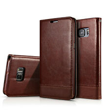 Leather Wallet Card Holder Magnetic Flip Stand Case Cover For Samsung S7/S8 Plus