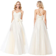 Long Prom Dress Spaghetti Strap Formal Evening Gown Cocktail Bridesmaid Wedding