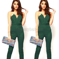 Women Holiday Mini Playsuit Ladies Party Jumpsuit Evening Dress Romper Long