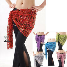 Belly Dance Costume Sequin Hip Scarf Belt Wrap 10 colors