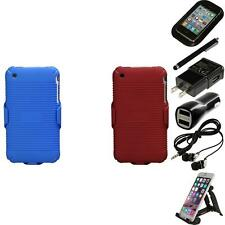 For Apple iPhone 3G / 3G S Hard Matte Holster Belt Clip 2-Piece Case Accessories