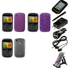 For BlackBerry Curve 8530 / 8520 TPU Rubber Skin Flexible Case Cover Accessories
