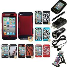 For Apple iPod Touch 4th Gen Hybrid TUFF IMPACT Case Hard Cover Accessories
