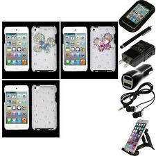 For Apple iPod Touch 4th Gen Diamond Bling Rhinestone Case Cover Accessories