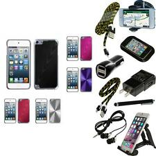 For iPod Touch 5th 6th Gen Aluminum Armor Cosmo Slim Hard Case Cover + Bundle