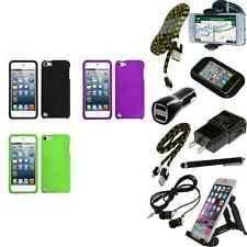 For iPod Touch 5th 6th Gen Snap-On Hard Case Phone Cover Skin Accessory + Bundle