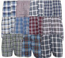 3 OR 6 PAIRS MENS WOVEN COTTON LOOSE FIT BOXER SHORTS BRIEFS UNDERWEAR
