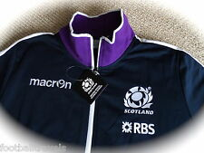 XL SCOTLAND MACRON RUGBY ANTHEM TRAINING JACKET Navy ZIP POCKETS NEW TAGS