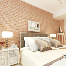 3D Brick Vinyl Home Room Decor Wall Decal Stickers Bedroom Removable DIY