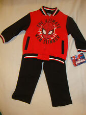 SPIDERMAN  2 pc FLEECY LINED JACKET & MATCHING PANTS NWTS