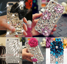 For iPhone 6S 7 Plus Bling Rhinestones Crystal Girl's Glitter Hard PC Case cover